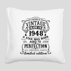 Vintage 1948 Square Canvas Pillow