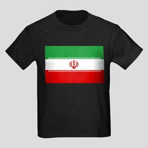 Iran Flag Kids Dark T-Shirt