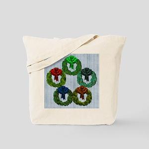 Harvest Moons 5 Wreaths Tote Bag