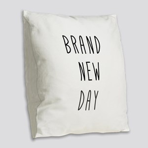 Brand New Day Burlap Throw Pillow