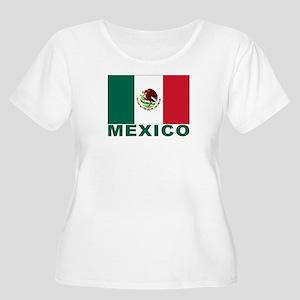 Mexico Flag Women's Plus Size Scoop Neck T-Shirt