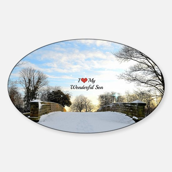 I Love My Wonderful Son Sticker (Oval)