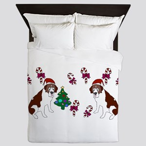 Christmas Saint Bernard Queen Duvet
