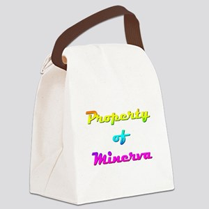 Property Of Minerva Female Canvas Lunch Bag