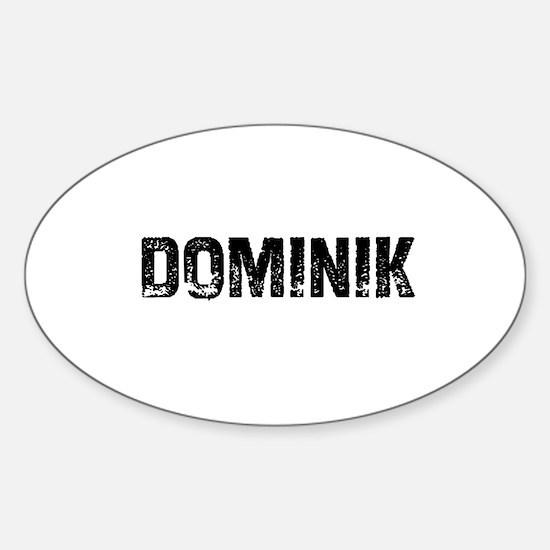 Dominik Oval Decal
