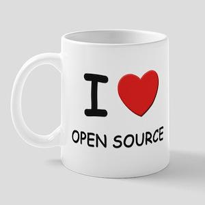 I love open source  Mug