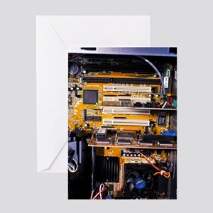 Computer interior Greeting Card