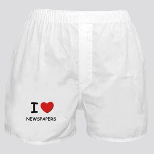 I love newspapers  Boxer Shorts