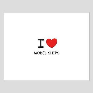 I love model ships  Small Poster