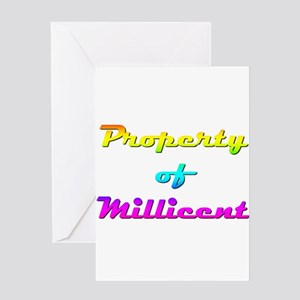 Property Of Millicent Female Greeting Card