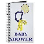 Blue Baby Shower Journal