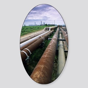 Cooling pipes Sticker (Oval)