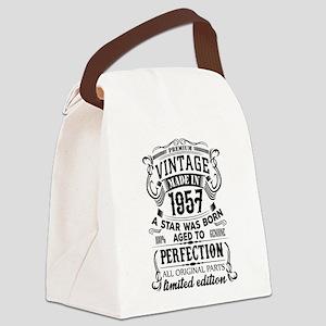 Vintage 1957 Canvas Lunch Bag