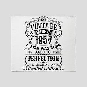 Vintage 1957 Throw Blanket