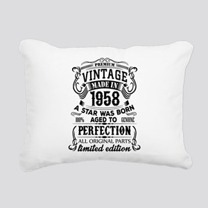 Vintage 1958 Rectangular Canvas Pillow