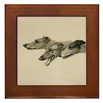 The Greyhounds Framed Tile