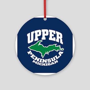 Upper Peninsula Ornament (Round)
