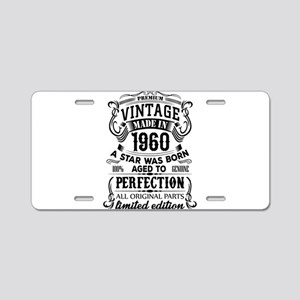 Vintage 1960 Aluminum License Plate