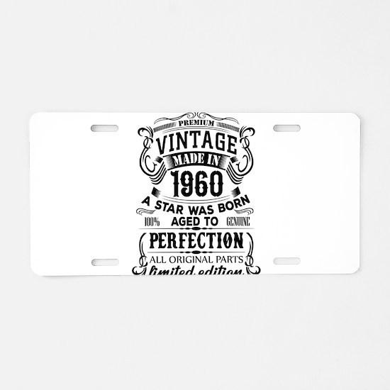 Vintage 1960 Aluminum License Plate