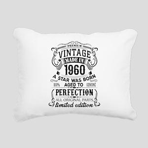 Vintage 1960 Rectangular Canvas Pillow