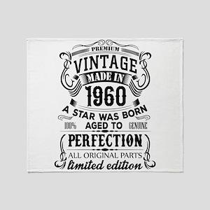 Vintage 1960 Throw Blanket