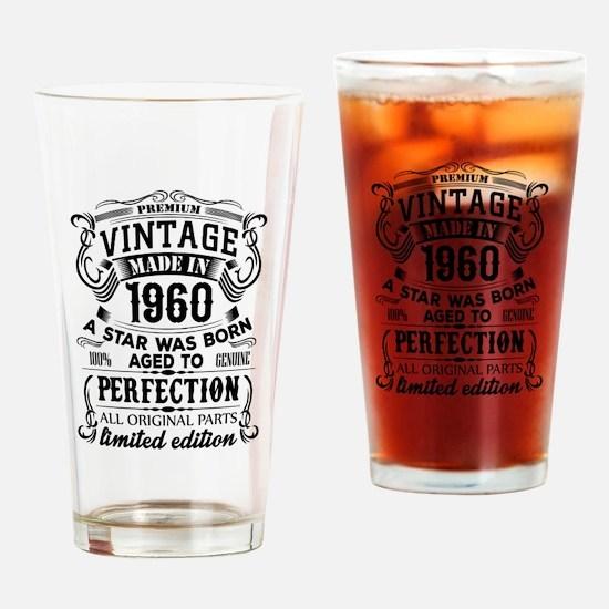 Vintage 1960 Drinking Glass