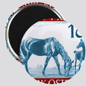 1946 Austria Racehorse And Foal Postage Sta Magnet