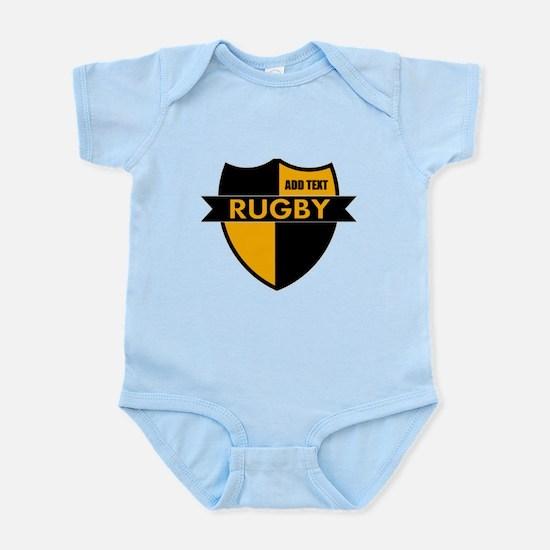Rugby Shield Black Gold Infant Bodysuit