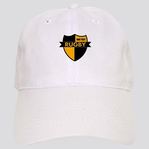 Rugby Shield Black Gold Cap