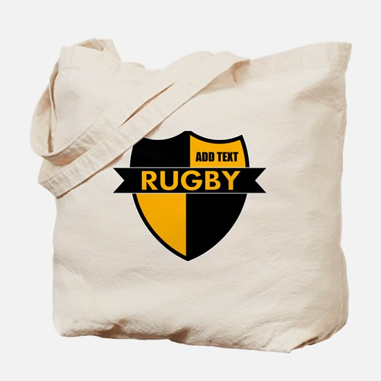 Rugby Shield Black Gold Tote Bag