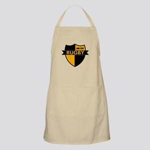 Rugby Shield Black Gold Apron