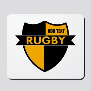 Rugby Shield Black Gold Mousepad
