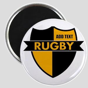 Rugby Shield Black Gold Magnet