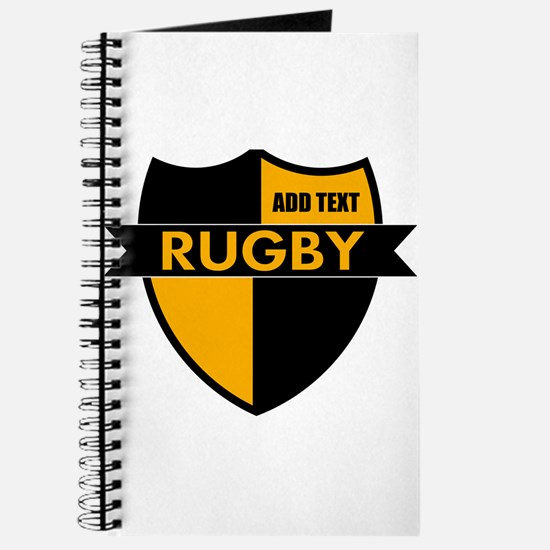 Rugby Shield Black Gold Journal