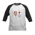Boy Inner Geek Kids Baseball Jersey