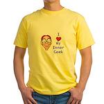 Boy Inner Geek Yellow T-Shirt
