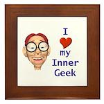 Boy Inner Geek Framed Tile