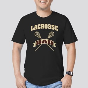 Lacrosse Dad Men's Fitted T-Shirt (dark)