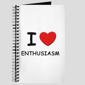 I love enthusiasm Journal
