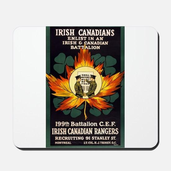 irish canadians enlist in an irish and canadian ba