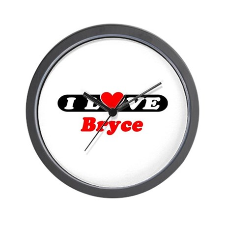 I Love Bryce Wall Clock