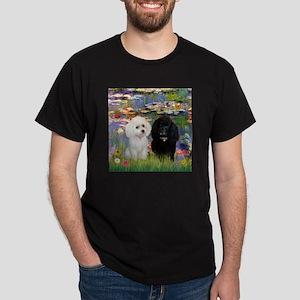 2 Poodles in Monet's Lilies T-Shirt