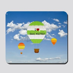 I Love San Mateo Mousepad