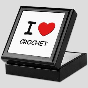 I love crochet Keepsake Box