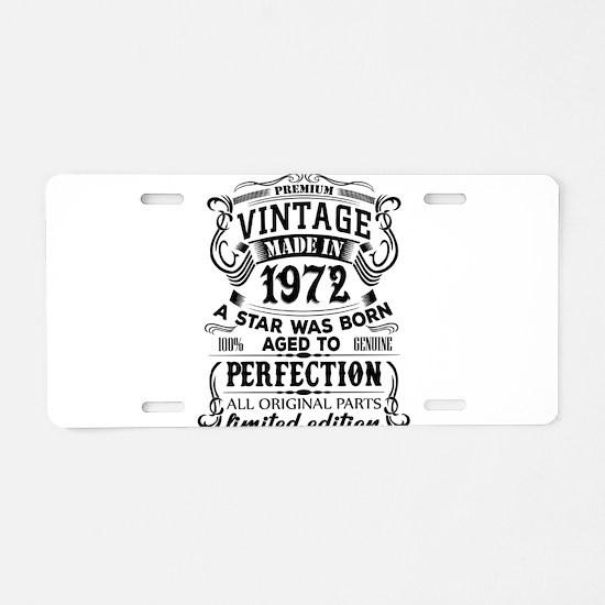 Vintage 1972 Aluminum License Plate