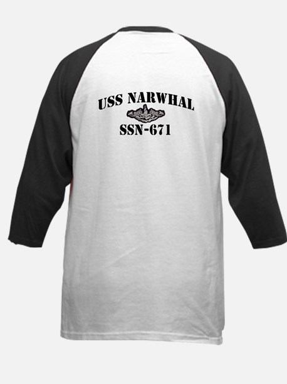 USS NARWHAL Kids Baseball Jersey