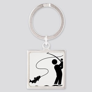 Fly-Fishing-AAA1 Square Keychain