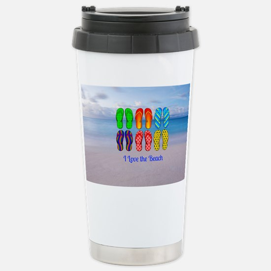 I Love the Beach - Colo Stainless Steel Travel Mug