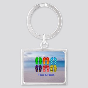 I Love the Beach - Colorful Fli Landscape Keychain