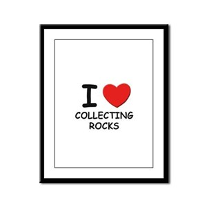 I love collecting rocks  Framed Panel Print
